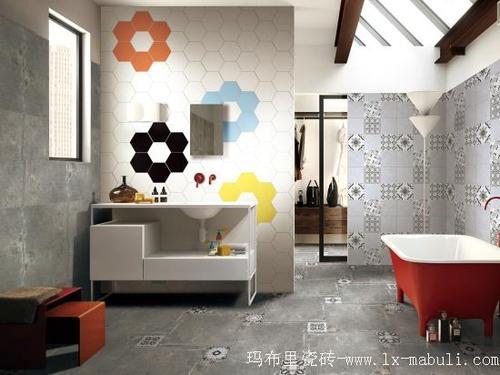 现代仿古砖,以其简约又不失个性的现代风格广受欢迎,无论是公共场合还是家居装饰均达到让人心醉的效果。